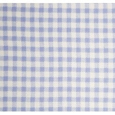 French Terry Stretch Knit Checked Fabric in Lavender Blue and White