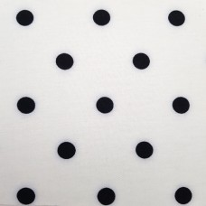 French Terry Stretch Knit Polka Dots Fabric in Black and White