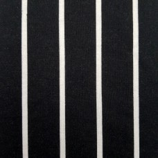 French Terry Stretch Knit Striped Fabric in Black and White
