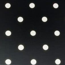 French Terry Stretch Knit Polka Dots Fabric in White and Black