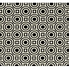 Zen Dot in Black Cotton Fabric by Heather Bailey