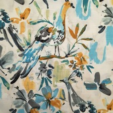 Exotic Birds and Flora Luxe Cotton Home Decor Fabric