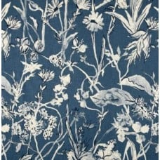 Garden Party Luxe Linen Blend Home Decor Fabric in Indigo Fabric Traders