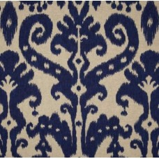 Ikat Marrakesh in Indigo Cotton Blend Home Decor Fabric