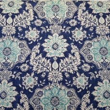 Luxe Belmont in BLue and Aqua Home Decor Fabric by Magnolia Home Fashions