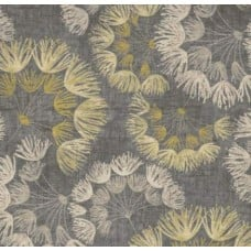 Floral Spray Cotton Home Decor Fabric in Grey