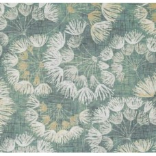 Floral Spray Cotton Home Decor Fabric in Green