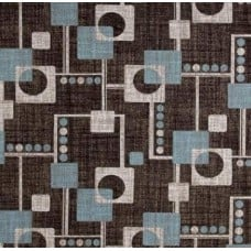 Retro Squares Home Decor Cotton Fabric in Brown Fabric Traders