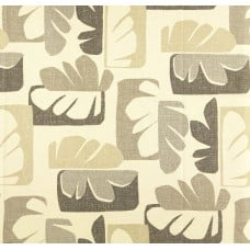 Henri Modern Leaf Design Home Decor Cotton Fabric Dune