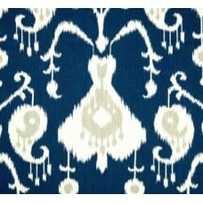 Ikat Java in Navy Home Decor Cotton Fabric Fabric Traders