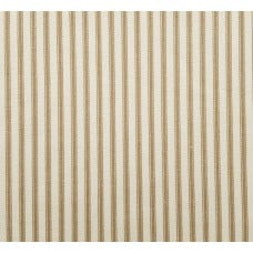 Ticking Stripe Classic Cotton Fabric Tan And Cream Fabric Traders