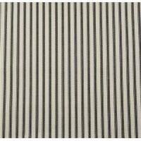 Ticking Stripe Traditional Cotton Fabric Black and Tan