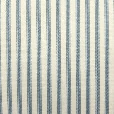 Ticking Stripe Traditional Cotton Fabric Soft Duck Egg Blue and Cream Fabric Traders