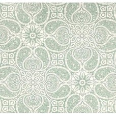Yesterdays Paisley Flowers in Spa Green Home Decor Cotton Fabric