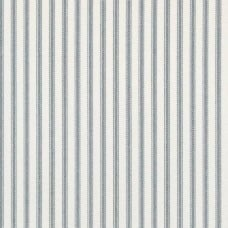 Ticking Stripe Cotton Home Decor Fabric in Blue-Grey and White