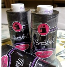 Thread  Spun Polyester 2742m Black by Maxi-Lock Fabric Traders