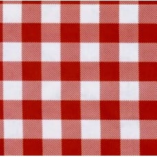 Oilcloth Laminated Fabric Picnic Check in Red Fabric Traders