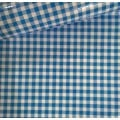 Mexican Oilcloth Laminated Fabric Gingham Light Blue
