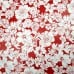 Oilcloth Laminated Fabric Floral in Red Fabric Traders
