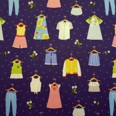 Park Barn Dance Cotton Fabric in Periwinkle by Michael Miller   Fabric Traders