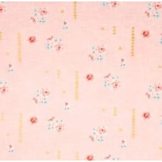 Bramble Farm Metallic Gold Speck in Pink Cotton Fabric by Michael Miller Fabric Traders