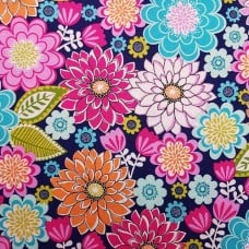 Emma Floral Jewel Cotton Fabric by Michael Miller