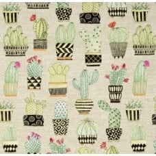 Cactus Cotton Fabric in Tan by Michael Miller