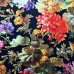 Renaissance Flowers on Black Cotton Fabric by Michael Miller Fabric Traders