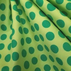 Dots Green on Lime Cotton Fabric by Michael Miller