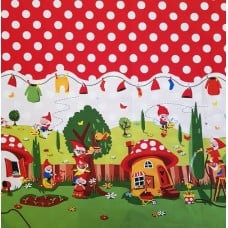 Gnomeville Cotton Fabric by Michael Miller