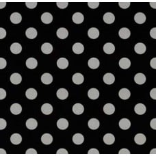 Metallic Glitz Quarter Dots Pearlized Black with Silver Cotton Fabric by Michael Miller Fabric Traders