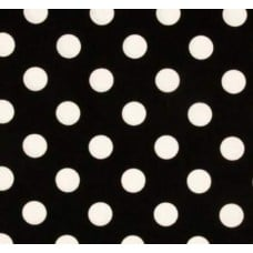 Quarter Dots White on Black by Michael Miller Cotton Fabric