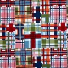 Seaside Shore Thing Plaid Cotton Fabric by Michael Miller