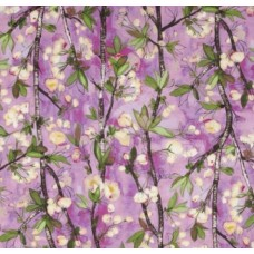 Vignette Cherry Bloom Orchid Cotton Fabric by Michael Miller Fabric Traders