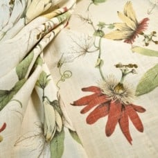 Country Cottage Home Decor Linen Fabric in White by P Kaufmann