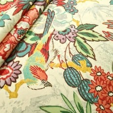 Dailiang Hibiscus Home Decor Cotton Twill Fabric by P Kaufmann