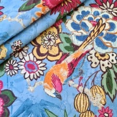 Dailiang Bluebell Home Decor Cotton Twill Fabric by P Kaufmann Fabric Traders