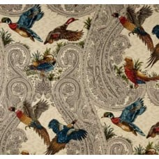 REMNANT - Birds in Flight Cotton Home Decor Fabrics