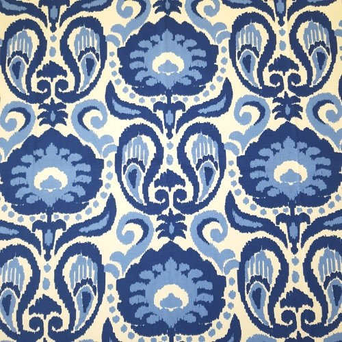 Ikat Grand In Blue Home Decor Fabric Fabric Traders