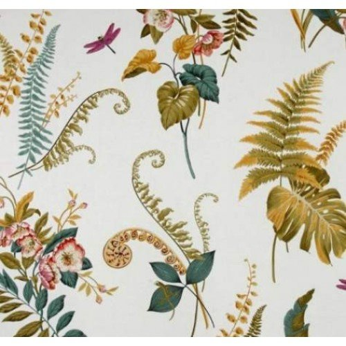Greenhouse Ferns Cotton Home Decor Fabric In Ivory Fabric Traders