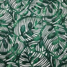 Gallant Leaf Home Decor Cotton Fabric in Green Fabric Traders