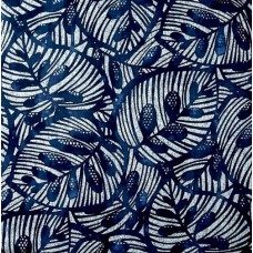 Gallant Leaf Home Decor Cotton Fabric in Blue