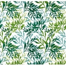 Branches Indoor Outdoor Fabric in Green Fabric Traders
