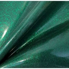 Vinyl Fabric Sparkle in Dark Green