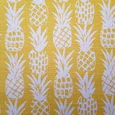 Pineapple Block Luxury Outdoor Fabric in Yellow and White