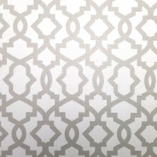 Geometric Design Grey on White Home Decor Cotton Fabric