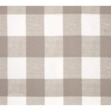 Check Medium Home Decor Cotton Fabric in Taupe and White