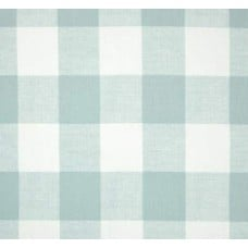 Check Medium Home Decor Cotton Fabric in Light Blue and White