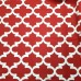 Lattice In White and Deep Red Home Decor Cotton Fabric Fabric Traders
