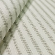 Ticking Stripe Cotton Home Decor Fabric in Grey Fabric Traders